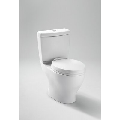 Aquia Dual Flush Elongated Two-Piece Toilet Toilet Finish: Cotton