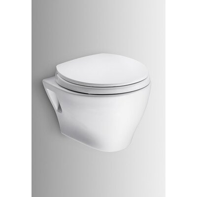 Aquia Wall Hung Dual Flush Elongated Toilet Bowl