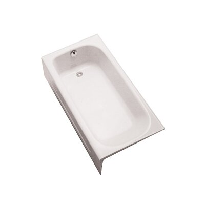 Enameled 60 x 30  Soaking Bathtub Drain Location: Left-hand, Finish: Cotton