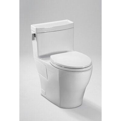 Legato High Efficiency 1.28 GPF Elongated One-Piece Toilet Toilet Finish: Cotton