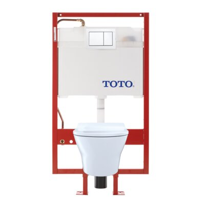 MH Dual Flush D-Shape Wall Hung Toilet with Tornado Flush