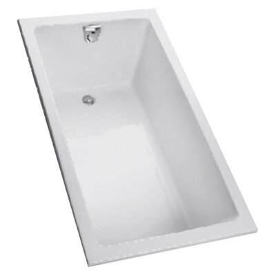 Enameled  60 x 30 Soaking Bathtub Color: White