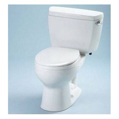 Drake 1.6 GPF Round Two-Piece Toilet Toilet Finish: Cotton, Trip Lever Orientation: Right-Hand
