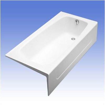 Compliant 66 x 32  Soaking Bathtub Configuration: Right, Finish: Cotton