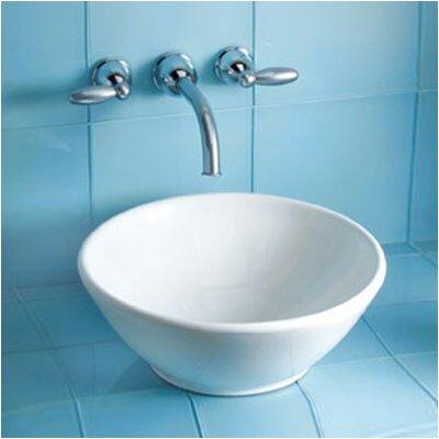 Larissa Circular Vessel Bathroom Sink Sink Finish: Cotton