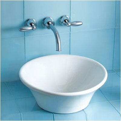 Alexis Ceramic Circular Vessel Bathroom Sink Sink Finish: Cotton