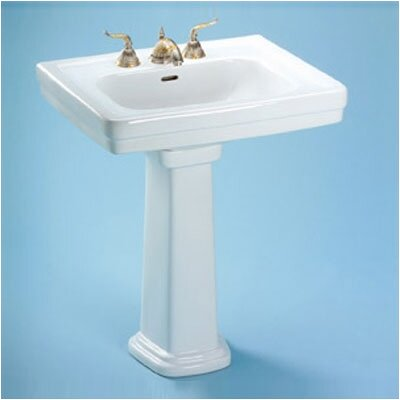 Promenade Ceramic 35 Pedestal Bathroom Sink with Overflow