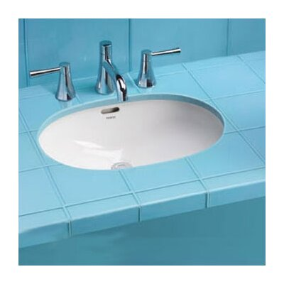 Augusta Decorative Rimless Oval Undermount Bathroom Sink with Overflow Sink Finish: Cotton