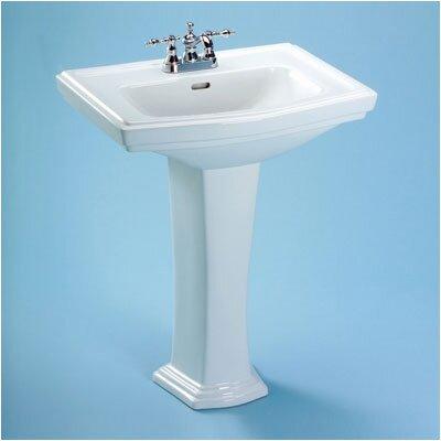 Clayton 34 Pedestal Bathroom Sink with Overflow