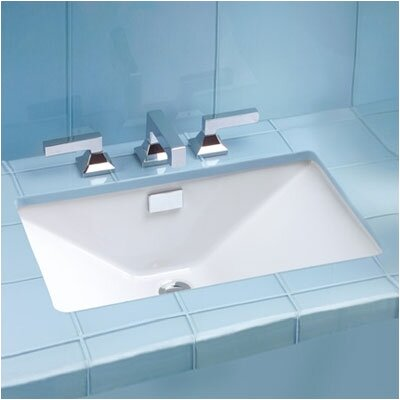 Lloyd Ceramic Rectangular Undermount Bathroom Sink with Overflow Sink Finish: Cotton