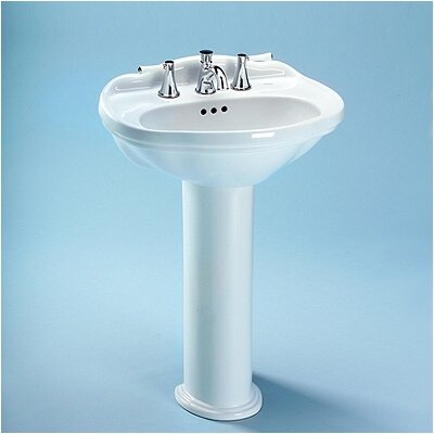 Whitney Bathroom Sink Pedestal Sink Finish: Cotton