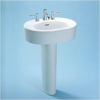 Nexus Ceramic 34 Pedestal Bathroom Sink with Overflow