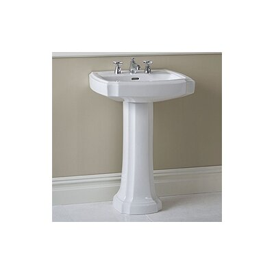 Guinevere Pedestal Bathroom Sink with Overflow