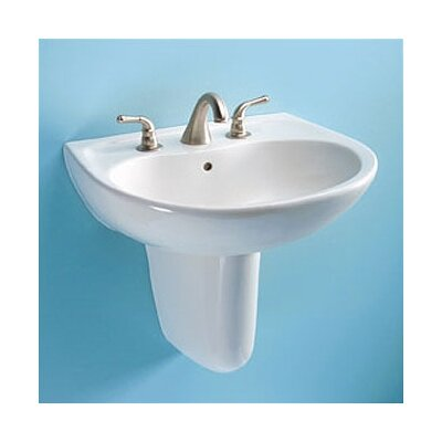 Supreme Ceramic 23 Semi Pedestal Bathroom Sink