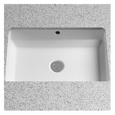 Vernica Design I Ceramic Rectangular Undermount Bathroom Sink with Overflow