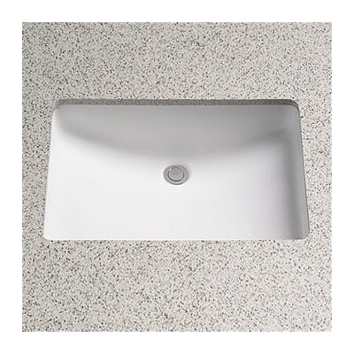 Augusta Decorative Rectangular Undermount Bathroom Sink with Overflow Sink Finish: Cotton
