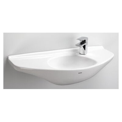 Ceramic 30 Wall Mount Bathroom Sink Sink Finish: Cotton