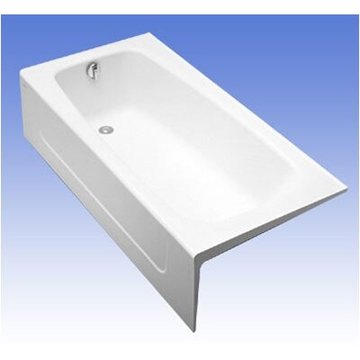Compliant 66 x 32  Soaking Bathtub Configuration: Right, Finish: Sedona Beige