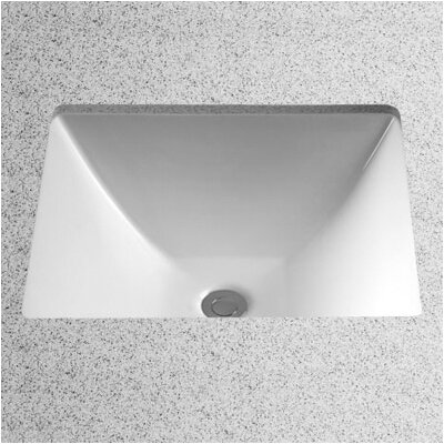 Legato Vitreous China Rectangular Undermount Bathroom Sink with Overflow Sink Finish: Cotton
