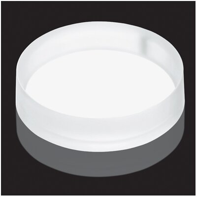 Luminist Lighted Circular Vessel Bathroom Sink Drain Cover Finish: White