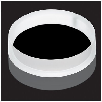 Luminist Lighted Circular Vessel Bathroom Sink Drain Cover Finish: Black