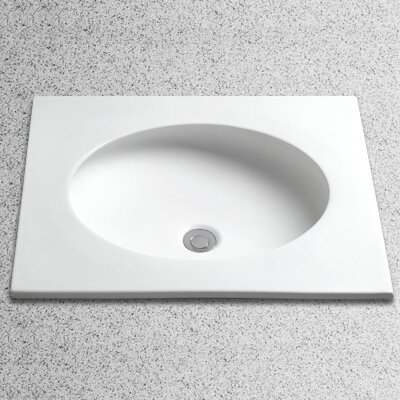 Curve Circular Undermount Bathroom Sink with Overflow Sink Finish: Sedona Beige