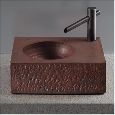 Waza Handcrafted Rectangular Vessel Bathroom Sink Sink Finish: Burnished Gold