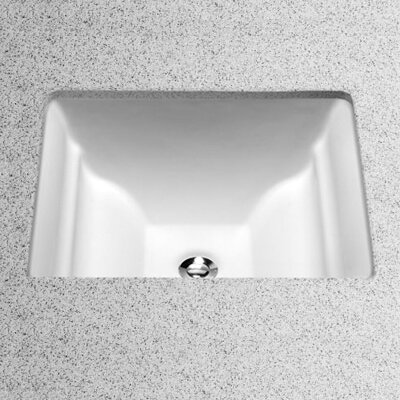 Aimes Rectangular Undermount Bathroom Sink with Overflow Sink Finish: Cotton