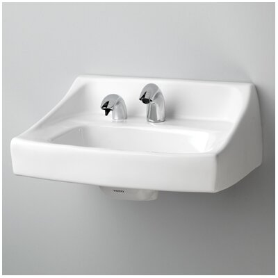 Commercial Vitreous China 21 Wall Mount Bathroom Sink with Overflow