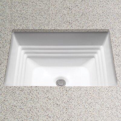 Promenade Rectangular Undermount Bathroom Sink with Overflow Sink Finish: Sedona Beige