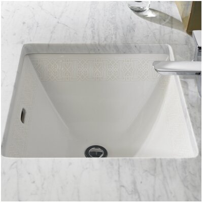 Waza Sultana Vitreous China Rectangular Undermount Bathroom Sink with Overflow Finish: Cotton-Sultana