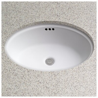 Dartmouth Oval Undermount Bathroom Sink with Overflow Sink Finish: Colonial White