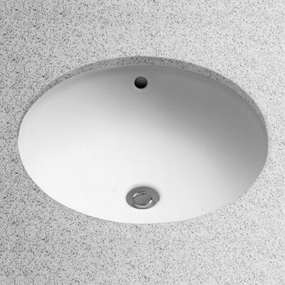 Ceramic Circular Undermount Bathroom Sink with Overflow Sink Finish: Cotton