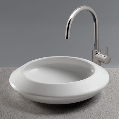 Curva Vitreous China Circular Vessel Bathroom Sink Sink Finish: Sedona Beige
