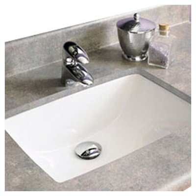 Classic Rectangular Undermount Bathroom Sink with Overflow Sink Finish: White