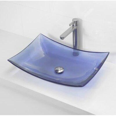 Incandescence Rectangular Vessel Bathroom Sink Sink Finish: Atmosphere