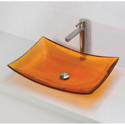 Darya Incandescense Plastic Rectangular Vessel Bathroom Sink Sink Finish: Magma
