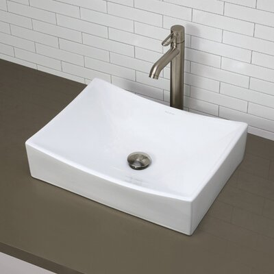 Kalina Classically Redefined Ceramic Rectangular Vessel Bathroom Sink