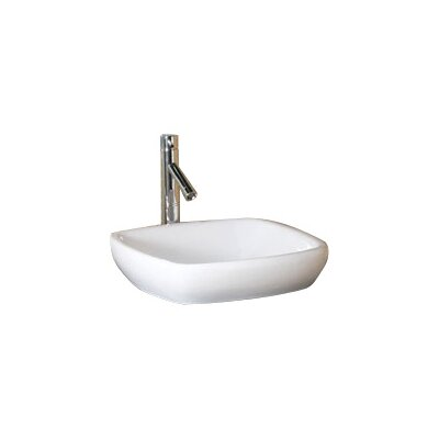 Classically Redefined Semi-Recessed Ceramic Square Vessel Bathroom Sink