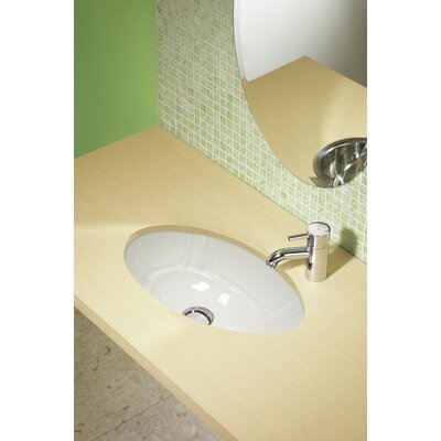 Classically Redefined Ceramic Oval Undermount Bathroom Sink Color: White