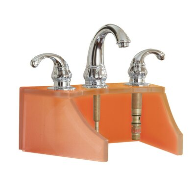 Drains and Accessories Frosted Glass Faucet Stand Finish: Amber