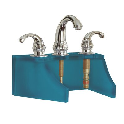 Drains and Accessories Frosted Glass Faucet Stand Finish: Blue