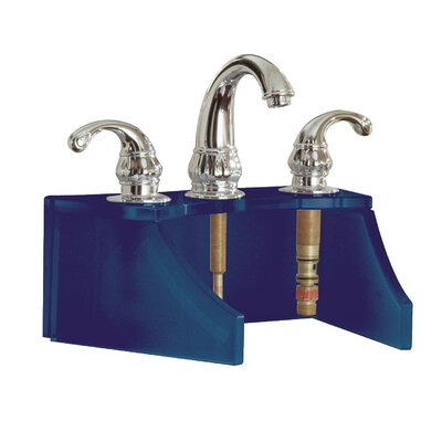 Drains and Accessories Frosted Glass Faucet Stand Finish: Cobalt