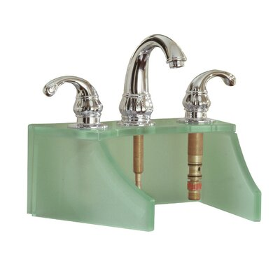 Drains and Accessories Frosted Glass Faucet Stand Finish: Green