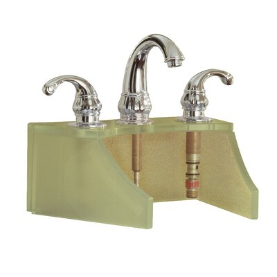 Drains and Accessories Frosted Glass Faucet Stand Finish: Metallic Gold