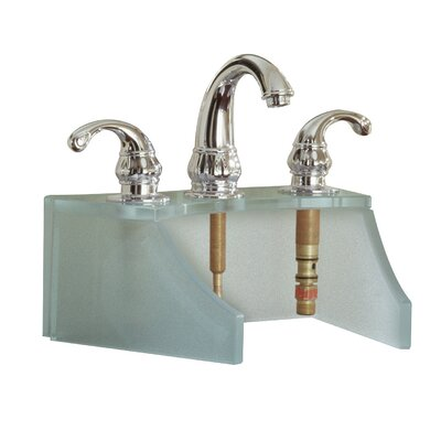 Drains and Accessories Frosted Glass Faucet Stand Finish: Metallic Silver
