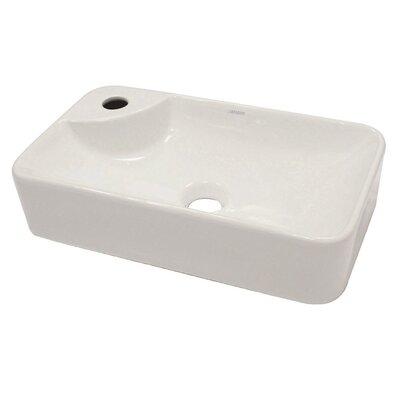 Matt Muenster Exclusive Vitreous China Above Counter Lavatory Rectangular Vessel Bathroom Sink