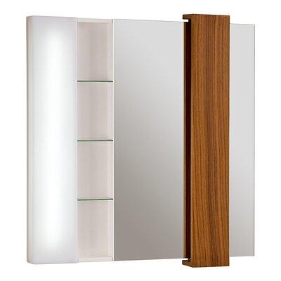 Malena Falls 33 x 38 Surface Mount Medicine Cabinet Finish: Teak Solid Wood