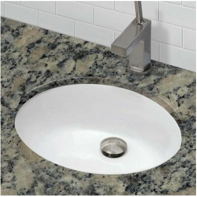 Classic Oval Undermount Bathroom Sink with Overflow Sink Finish: White
