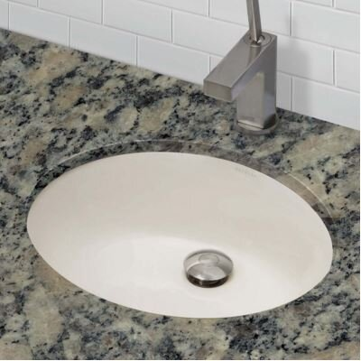 Classic Oval Undermount Bathroom Sink with Overflow Sink Finish: Bone